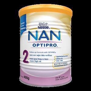 Nestle Nan Optripro 2 Formula Milk Powder (6-12 m) - TIN (400 gm)