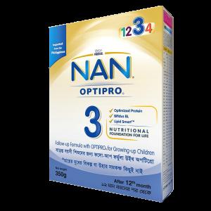 Nestle Nan Optripro 3 Formula Milk Powder (12 m+) - BIB (350 gm)