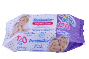 Freshmaker Wet Wipes With Cream 120 Pcs/Pack