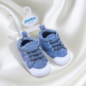 Juniors B-Grey Shoe (0-6 months)