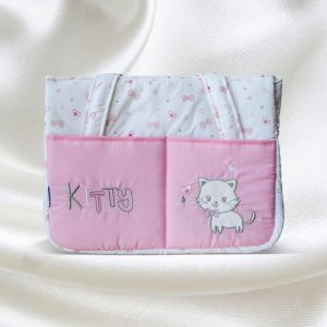 Juniors Diaper Bag case (White and Pink)
