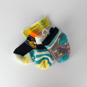 Baby Boy Socks (3 Pairs Set) - Green
