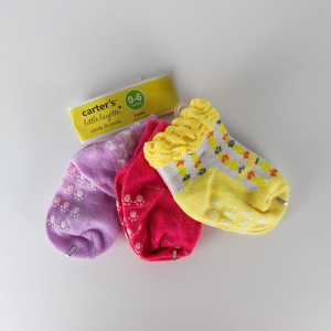 Baby Girl Socks (3 Pairs Set) - Purple