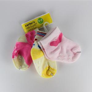 Baby Girl Socks (3 Pairs Set) - Pink