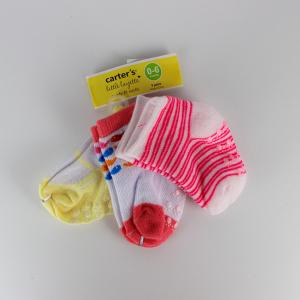 Baby Girl Socks (3 Pairs Set) - Yellow