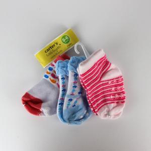 Baby Girl Socks (3 Pairs Set) - Red