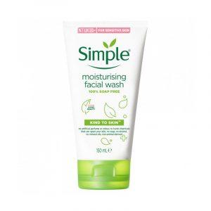 Simple moisturizing facial wash 150 ml (Poland)