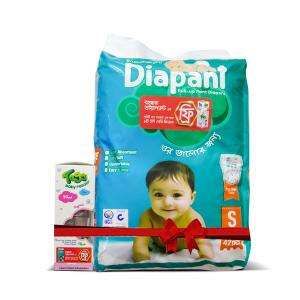 Bashundhara Diapant S 42 (4-8 kg) - Toggi Feeding Bottle 90ml Free