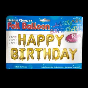 Happy Birthday Banner - Golden (13 letter)