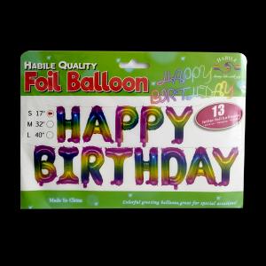 Happy Birthday Banner - Rainbow (13 letter)