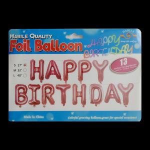 Happy Birthday Banner - Peach (13 letter)