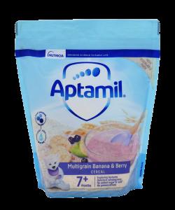Aptamil Multigrain Banana & Berry Cereal (7m+)-200 gm