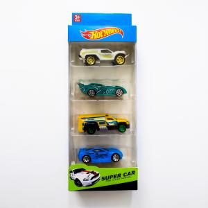 Hot Wheels Super Car - Die Cast Metal (4 Pcs)