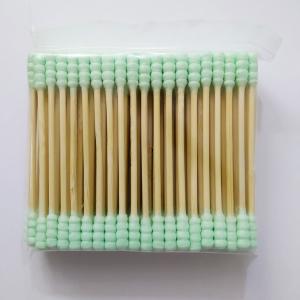 Sinwuas Cotton Cotton Buds 100 Pcs - Green