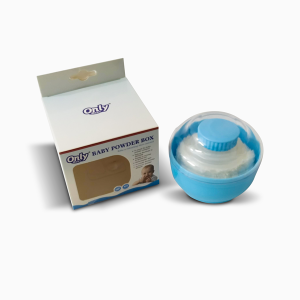 Only Baby Powder Box with Puff - Blue