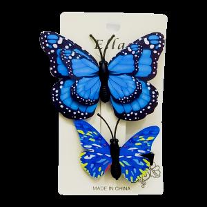 Ellas Butterfly Hair Clip - 2 Sets (Random Colors)
