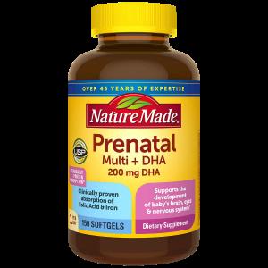 Nature Made Prenatal Multi + DHA 200Mg (150 Softgels)