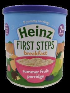 Heinz Breakfast Summer Fruit Porridge (7 m+) - 240gm