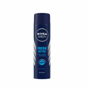 • The aqua fresh fragrance and ocean extracts keep you fresh for longer. • Anti-bacterial actives help in body odour control. • It contains NIVEA MEN Care Complex, to take care of your underarm skin.