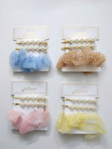 Princess Hair Clip & Band Set (Random Colors)