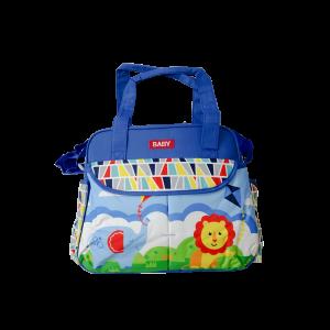Diaper Bag - Baby Lion Blue